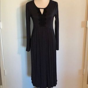 Dresses & Skirts - Flattering lightweight Black Jersey Dress  Medium